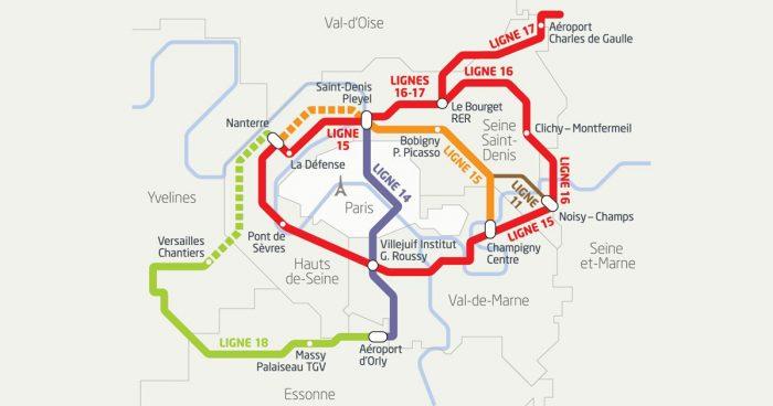Plan du Grand Paris Express